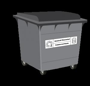General Waste 1100L Bin